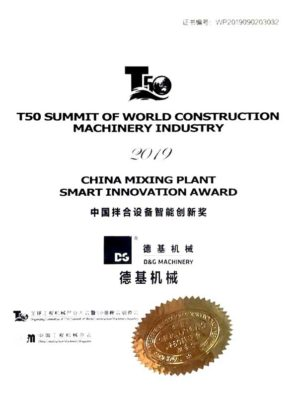 2019 China Mixing Plant Smart Innovation Award<br>2019中國拌合設備智能創新獎