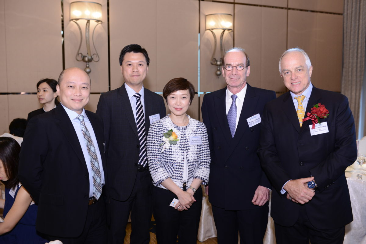 Company representatives of D&G Technology and Chairman of Quam Financial Services Group
